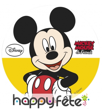 Disque en sucre Mickey Mouse, 16cm