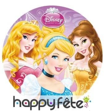 Disque en sucre Princesses Disney, 16cm