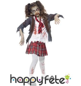 Déguisement étudiante zombie, pour enfant