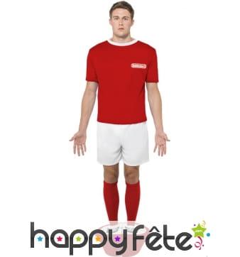 Déguisement footballeur babyfoot rouge