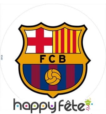 Disque FC Barcelone en sucre, 20cm
