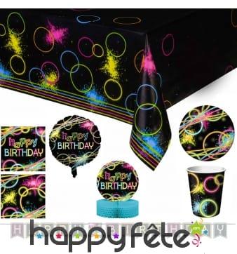 Déco fluo néon pour table