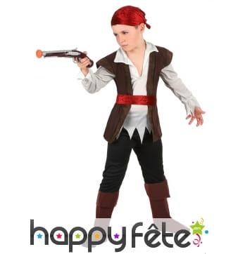 Déguisement gilet sans manches de petit pirate