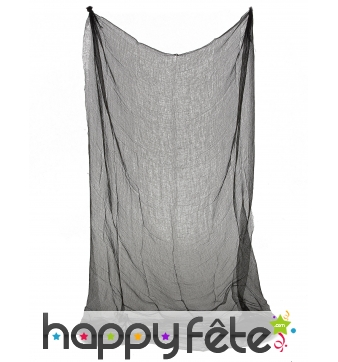 Drap gris transparent en tissu de 150 x 210cm
