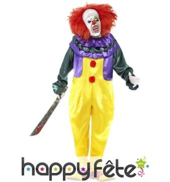 Déguisement horreur clown homme