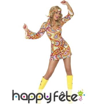 Déguisement hippie femme psychédélique
