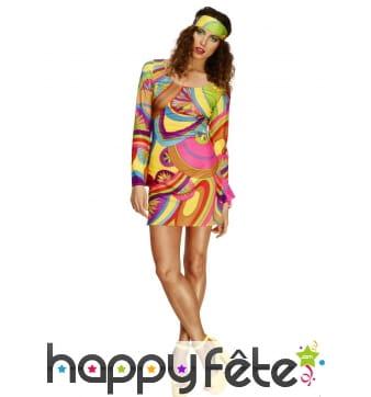Déguisement hippie fleurs femme sexy