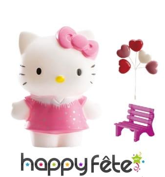 Décorations Hello Kitty pour gâteau en kit. PVC