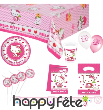 Décos Hello Kitty de table d'anniversaire