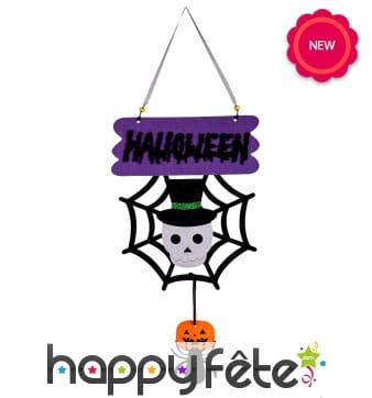 Décoration Halloween petit squelette pour porte