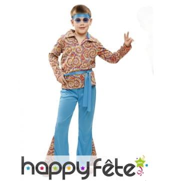 Déguisement hippie pour garçon, motifs tie and dye