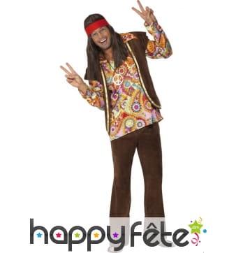 Déguisement hippie psychédélique