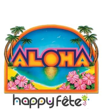 Décor imprimé Aloha de 45 x 63 cm
