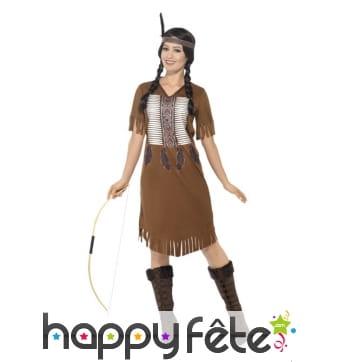 Déguisement indienne native américaine