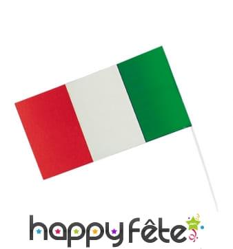 Drapeau Italie sur tige, 12x23cm