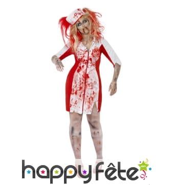 Déguisement infirmière zombie grande taille