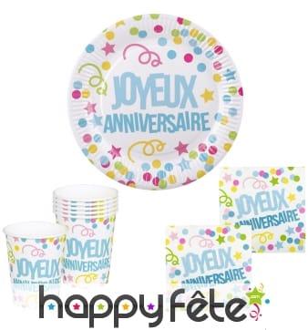 Déco joyeux anniversaire pour table d'anniversaire