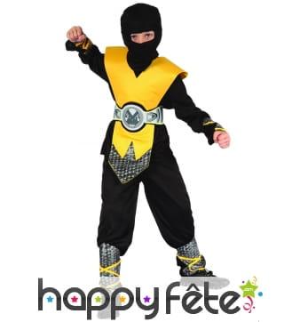 Déguisement jaune de ninja pour enfant