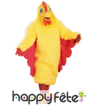 Déguisement jaune de poulet pour adulte