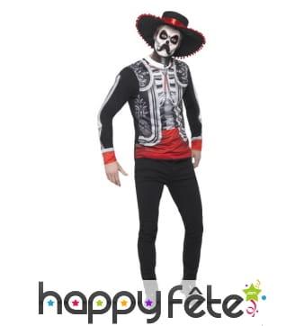 Déguisement jour des morts de seigneur mexicain
