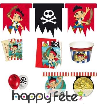 Décos Jake et les pirates pour anniversaire