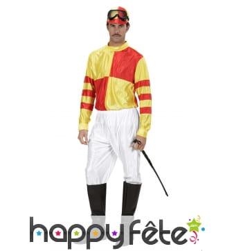 Déguisement jaune et rouge de jockey