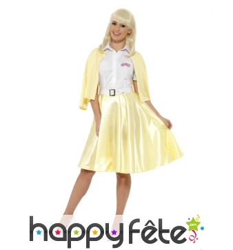 Déguisement jupe jaune de Sandy, Grease