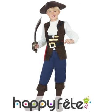 Déguisement jack le pirate enfant