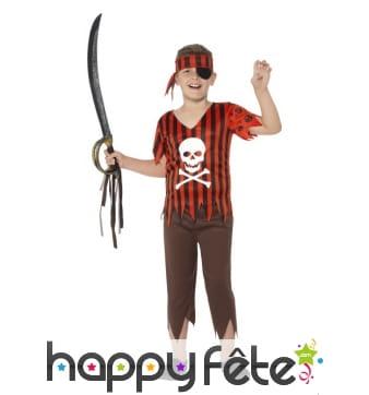 Déguisement Jolly Rodger le pirate pour garçon