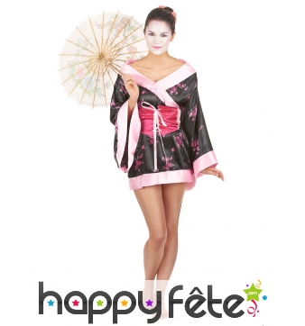 Déguisement kimono court de geisha