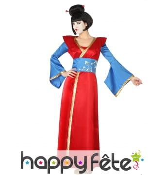 Déguisement kimono rouge de geisha