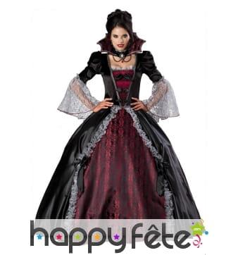 Déguisement luxe de vampire, robe bouffante
