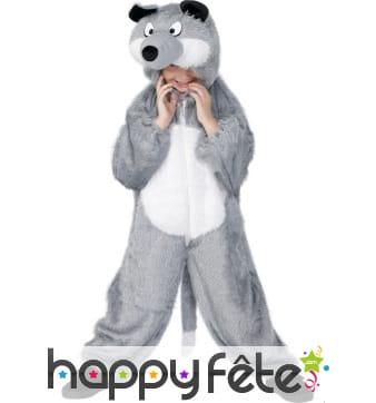 Déguisement loup gris enfant