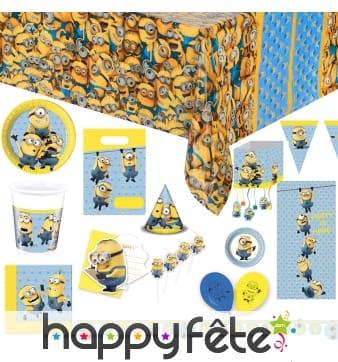 Déco lovely Minions pour table d'anniversaire