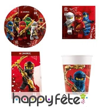 Décoration Lego Ninjago pour table d'anniversaire