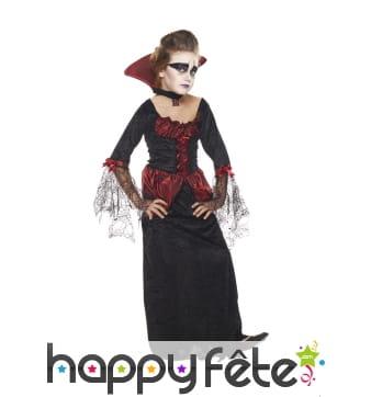 Déguisement longue robe de vampirresse pour fille