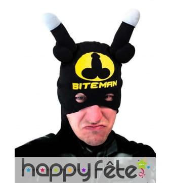 Demi-masque bonnet humoristique bitman