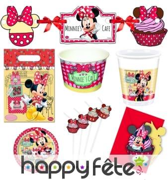 Décorations Minnie café d'anniversaire