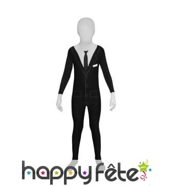 Déguisement Morphsuit costume noir pour enfant