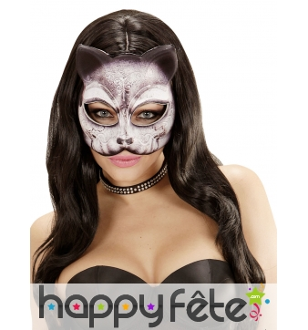 Demi Masque chat recouvert de tissu