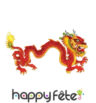 Décoration murale de dragon chinois, 1,83m