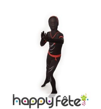 Déguisement Morphsuit de ninja pour enfant