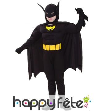 Déguisement musclé de Batman pour enfant