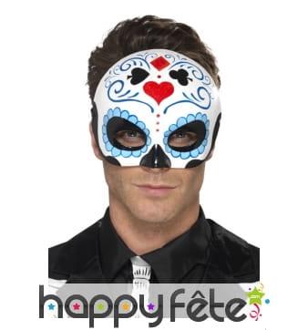 Demi masque day of the dead