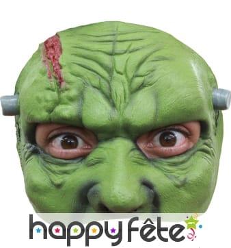 Demi masque de Frankenstein en latex