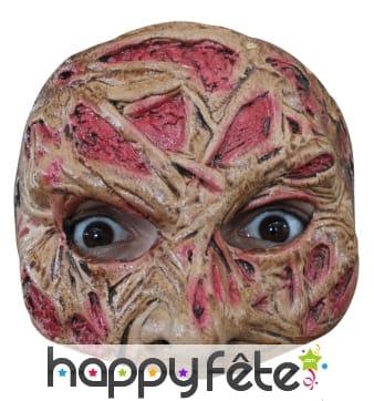 Demi-masque de Freddy Krueger en latex