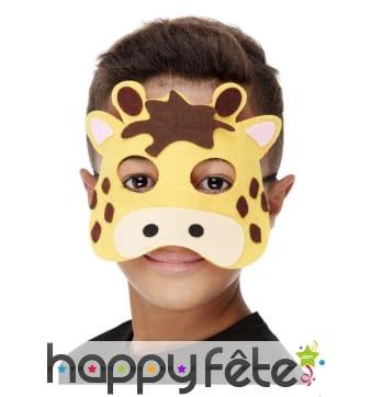 Demi masque de girafe pour enfant
