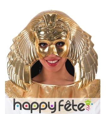 Demi masque de horus, doré