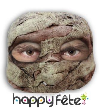Demi-masque de momie en latex