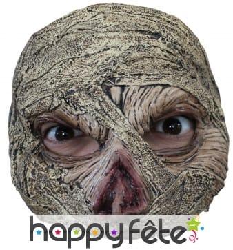 Demi-masque de momie pour adulte